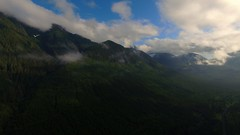 Forested, Deforested, Reforested 1 (Dan Beland) Tags: mist canada mountains green art nature weather clouds forest artistic britishcolumbia northamerica verdant lush porthardy drone reforested alertbay deforested northernvancouverisland forested dji portmcneil quadcopter forestrypractices phantom3professional