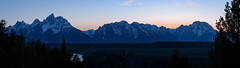 Peace In the Valley (PossiblyNot) Tags: blue bluesky grandtetonnationalpark mountains river snakeriveroverlook sunset trees twilight usa wy wyoming