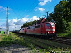 DBC 151 022 en 055 met een Coilstrein te Lintorf (treinfreak800) Tags: west zug db coils trein oberhausen 022 151 andernach dbc 055 lintorf guterzug andernacher