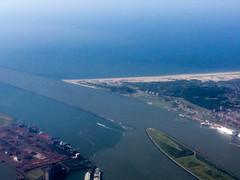 Over Holland (Remko Tanis) Tags: rotterdam beach netherlands river flying hookofholland hoekvanholland travel port ship sea southholland nl