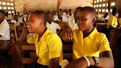 Girls enjoying class at Gbimsi Junior High (Global Partnership for Education - GPE) Tags: ghana educationinghana education gpe globalpartnershipforeducation schoolchildren school basiceducation younggirls