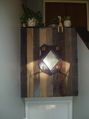 Free Wood Wall Art (irecyclart) Tags: art homedcor kitchen livingroom lobby palletwall recyclingwoodpallets
