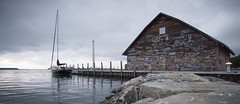 Ephraim (say_cheesehead) Tags: ephraim wisconsin doorcounty sail sunset boat lake michigan green bay dock pier house