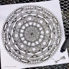 Mandala (marusaart) Tags: zen zentangle art artist doodle draw drawing illustration marusaart mandala zendala ornament