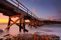 Bare Island  La Perouse (renatonovi1) Tags: bareisland laperouse sydney nsw australia bridge pier jetty sunset rocks sea
