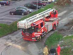 Swedish Firetruck (Random Forum) Tags: biskopsgrden firetruck people parking