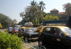 Bombay Taxis (paulhami) Tags: bombay mumbai taxis traffic