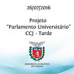 Projeto Parlamento Universit�rio - CCJ - Tarde - 26/07/2016