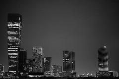 Business Bay towers... (EHA73) Tags: aposummicronm1250asph leica leicamm typ246 nightphotography white bw dubai uae businessbay towers blackandwhite