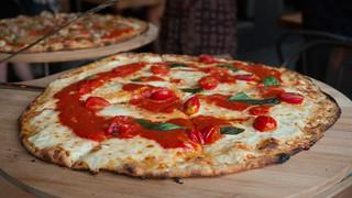 Margherita Pizza | tomato sauce, fiore di latte buffalo mozzarella, basil, cherry tomato