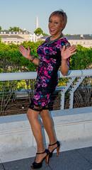 A Lovely Terrace View! (kaceycd) Tags: crossdress tg tgirl lycra spandex stretch seethru seethrough lace minidress pantyhose pumps tstrappumps peeptoepumps opentoepumps highheels stilettopumps platformpumps stilettoheels sexypumps stilettos s