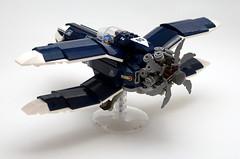 X-Plane - rear (SyBricks) Tags: sylontw sylon xwing x plane aircraft airplane dieselpunk dieselpulp moc lego skyfi wing wings
