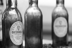 Classic Guinness (gpa.1001) Tags: guinness beer bottles blackandwhite bw stilllife