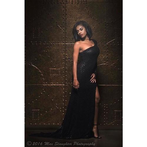 Ravishing Regina slays wearing a black formal dress in the studio recently.