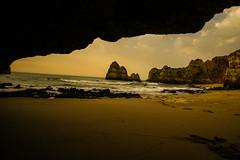 Perfect spot to relax (Costigano) Tags: cave beach sea ocean lagos portugal algarve rock scenery scenic landscape