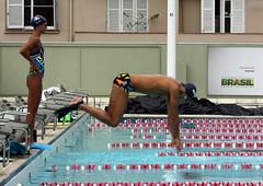 Balmy & Coelho swimmers (Clara Ungaretti) Tags: balmy coelho jump pool swimmingpool swimming swimsuit swimmer french team training gnu grmionuticounio equipe olimpadas olympicgames olympic riodejaneiro rio2016 sportwear sport sportphotography sportphotographer