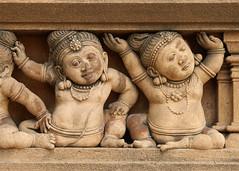 Kelaniya Dwarfs (IMG_2175b) (Dennis Candy) Tags: srilanka ceylon serendip serendib kelaniya solosmasthana temple holy sacred buddhism culture heritage tradition religion buddha carving dwarf art architecture