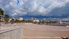 Dark clouds abouve Civitavecchia (Thirza78) Tags: donkerewolken wolken sky skyline boulevard italy itali civitavecchia weather weer slechtweer travel