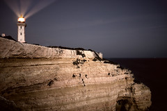 Catch the Light Beams (parkerbernd) Tags: lighthouse catch light beams show way shine dark coastline shoreline leuchtturm farol alfanzina algarve portugal night cliffs rocks rays