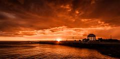 Sunset (Jordan Morganne) Tags: antoniogiordano livorno toscana tuscany italia italy sunset tramonto mare sea luce light controluce backlight silhouette ombra shadow ombre shadows gazebo terrazzamascagni terrazza mascagni ograficamente