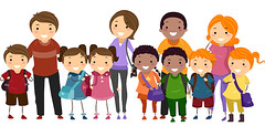 Illustration of School Kids Neatly Lined Up in One Row Together with Their Parents (viada08) Tags: boy cartoon cartoonpeople children clipart cutout drawing earlyeducation education eps family familyday fathers female girl gradeschool graphic illustration isolated kids kindergarten lifestyle male mothers parents parentsday preschool preschooler stickfigure stickfigures stickman student vector young