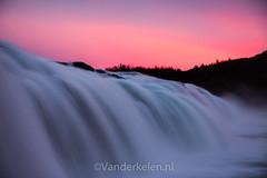 20130922-5399 (mvdkelen) Tags: 2013 iceland faxifoss waterfall water pink purple sunset longexposure