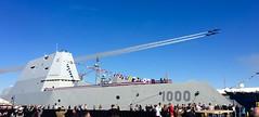 Blue Angels flyover of USS ZUMWALT (Jeff Reardon) Tags: zumwalt navy commissioning flyover airshow ddg baltimore iphone portofbaltimore jasondunham ddg1000 ddg109 blueangels destroyer