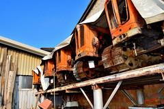 gemelli (riccardo nassisi) Tags: car wreck rust rusty relitto rottame ruggine ruins scrap scrapyard sfascio sfasciacarrozze epave escavatore excavator hydromac abbandonata abbandonato abandoned auto