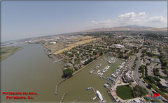 DU Pitts Marina 1 (bradleybennett) Tags: drone drones fly high quad copter blade 350qx3 remote control flying pittsburg marina water bay delta san jaquin yacht yachts sail sailbot boat