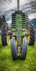 Tracktor 29 (evanffitzer) Tags: tractor vintage industrial classic hdr evanfitzer evanffitzer fujifilmx100s fujix100s countryfair memories heritage wheels knob farming merritt britishcolumbia outdoors