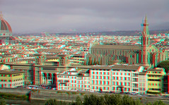View from Piazzale Michelangelo Florence 3D (wim hoppenbrouwers) Tags: viewfrompiazzalemichelangelo florence 3d anaglyph stereo redcyan firence view from piazzale michelangelo piazzalemichelangelo hyperanaglyph