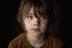 Middle Child ({jessica drossin}) Tags: jessicadrossin portrait photography freckles boy child kid blueeyes close up wwwjessicadrossincom