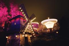 Light Carnival (ajastaika) Tags: valokarnevaali linnanmki karuselli carousel carrousel windmill tuulimylly ligtht night evening amusementpark finland helsinki huvipuisto longexposure
