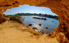 Seaside cave (meleshko.alex) Tags: europe greece krete sea seaside cave summer sun sunset frame fujifilm fuji fujinon xt1 fisheye 8mm samyang samyang8mm rokinon rokinon8mm hdr