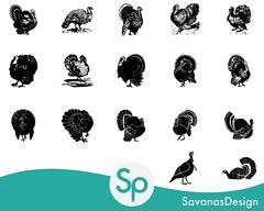 Vintage Turkey Clip Art (savanasdesign) Tags: turkey vintage thanksgiving clipart clip art silhouette stencil black white victorian etsy png jpg pngs jpgs