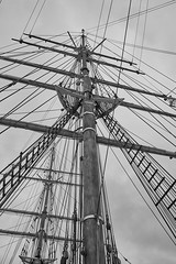 Discovery 2 (aylmerqc) Tags: rrsdiscovery discovery ship sail boat antarctic royalresearchship research polar scott shackleton drydock museum dundee scotland bw blackandwhite fujifilm xe1 fujinon1855mm