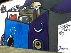 296 de 365 Grafiti VI (pico_de_la_miel) Tags: proyecto365photos graffiti arteurbano len espaa colores caja