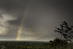 Rainbow over Albuquerque (Inspiritus) Tags: rainbow storm darkclouds rain