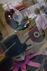 Compound, Chelsea, London, 2016 (MJ_Conlon) Tags: london uk chelsea street kings road kingsroad shop window hat mask reflection reflections man shirt