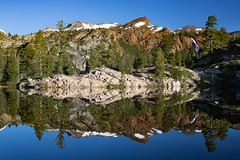 Dream Reflections (hardaker) Tags: desolationwilderness mirrormonday backpacking calm camping desolation early earth granite lake mirror morning mountain mountains nature pines reflection rocks snow travel trees waterfall wilderness tofb