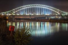 Runcorn Bridge (kelsborrow) Tags: bridge night mersey runcorn widnes