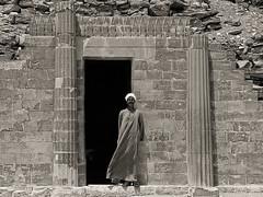The crypt guardian@Saqqara.eg (Tilemachos Papadopoulos) Tags: bw alexandria mono egypt cairo pyramids giza qoq