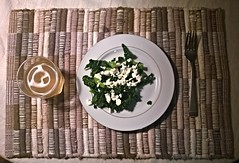 Supper at Mine (Kenny2221) Tags: food lines cheese dinner salad shadows yum tea plate fork tags meal grains supper linear whoaman