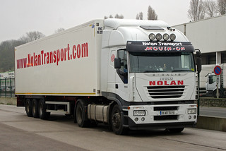Nolan Transport of New Ross, Co. Wexford, IVECO Stralis 06-WX-3075, Boulogne, 1 Dec 2014