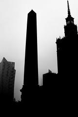 Monoliths (John M. Vaughan) Tags: monochrome buildings poland warsaw monoliths