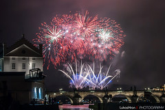 New Year's firework in Prague (1. 1. 2015) (Lukas Hron Photography) Tags: new prague 1st january firework years 2015