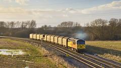 Late afternoon steel (mike.online) Tags: train canon grid eos rail railway british locomotive stenson colas ukrail class56 ukrailways 56087 colasrail bostonsteel mikeonline