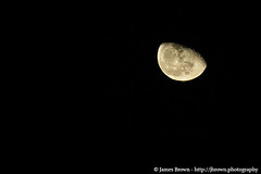 Waning Gibbous Moon (72.1% Illuminated) (J. Brown Photography) Tags: brown moon photography james photo sony astrophotography half alpha lunar