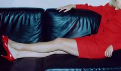 MyLeggyLady (MyLeggyLady) Tags: thighs cfm miniskirt secretary red sexy stiletto heels legs