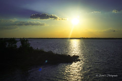 Sun set at Himayat Sagar (rahul gudipudi) Tags: sunset sky sun india lake nature water photography hyderabad telangana himayatsagar